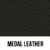 BLACK MEDAL LEATHER